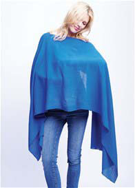 Queen Bee Nursing Scarf Cover in Royal Blue by Maternal America