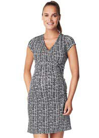Queen Bee Zarita Maternity Dress in Blue Print by Noppies