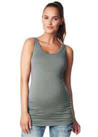 Queen Bee Hannah Maternity Tank Top in Army Green by Noppies