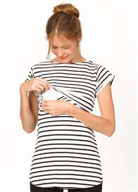 Queen Bee Jackson Striped Maternity Nursing Top by Quack Nursingwear
