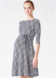 Queen Bee Portico Print Maternity Dress by Leota