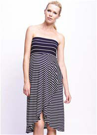 Queen Bee Navy Mixed Stripe Maternity Dress or Skirt by Maternal America