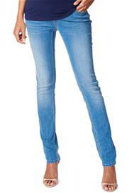 Queen Bee Over Belly Slim Denim Pants in Stonewash by Esprit