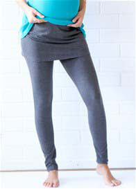 Queen Bee Brooks Skirted Maternity Legging in Charcoal by Trimester