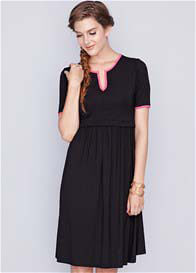 Queen Bee Linda Bamboo Maternity Nursing Dress in Black by Dote