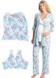Queen Bee Susan 5 Piece Maternity Sleepwear Gift Set by Everly Grey