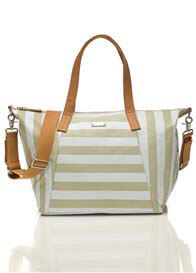 Queen Bee Noa Baby Nappy Change Bag in Stripe Fawn by Storksak
