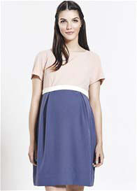 Queen Bee Cameo Maternity Dress in Blush/Blue by Paula Janz