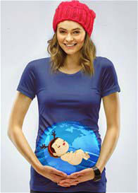 Queen Bee Santas Little Helper Christmas Maternity Tee by Mamagama