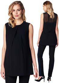 Queen Bee Tailored Maternity Tunic with Sheer Back Yoke by Esprit