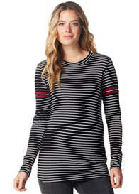 Supermom - Ribbed Knit Striped Sweater