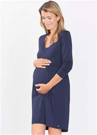 Queen Bee Flowing Maternity Nursing Dress in Blue by Esprit