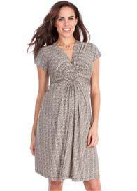 Queen Bee Ditsy Floral Front Knot Maternity Dress by Seraphine