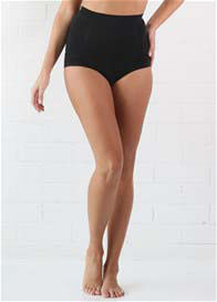 Queen Bee Postpartum High Waist Recovery Panties in Black by QueenBee