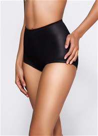 Queen Bee Leona Retro Waist Control Shaper Brief in Black by QT Intimates