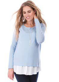 Queen Bee Trisha Maternity Nursing Jumper with Mock Shirt by Seraphine