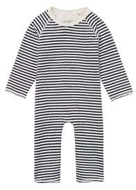 Queen Bee Ammon Striped Playsuit in Charcoal Stripes by Noppies Baby