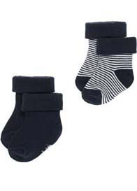 Queen Bee Guzzi Navy Baby Socks (2 pack) by Noppies Baby
