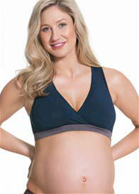 Queen Bee Milk Bamboo Nursing Sleep Bra in Navy by Cake Lingerie