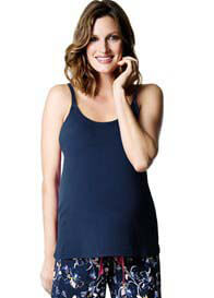 Queen Bee My Everyday Maternity Nursing Cami in Navy by HOTmilk