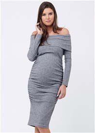Queen Bee Bonnie Off The Shoulder Maternity Knit Dress by Ripe Maternity