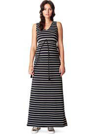 Queen Bee Mila Maternity Maxi Dress in Black Stripes by Noppies