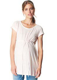 Queen Bee Drawstring Waist Maternity Tunic Top by Esprit