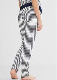 Queen Bee Blue Striped Maternity Lounge Pants by Esprit