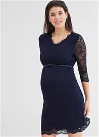 Queen Bee Night Blue Lace Maternity Evening Dress by Esprit