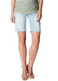 Queen Bee Bleached Denim Maternity Shorts by Esprit