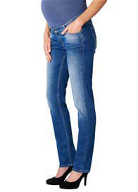 Queen Bee Fenne Straight Leg Distressed Maternity Jeans by Noppies