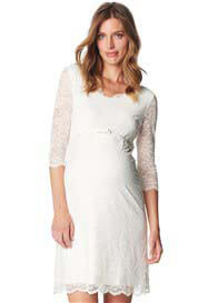 Queen Bee Off White Lace Maternity Evening Dress by Esprit