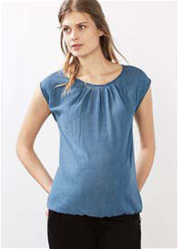 Queen Bee Denim Look Maternity Blouse by Esprit