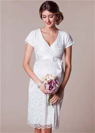 Queen Bee Bridget Ivory Lace Maternity Wedding Dress by Tiffany Rose