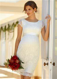 Queen Bee Emma Ivory Maternity Bridesmaid Wedding Dress by Tiffany Rose