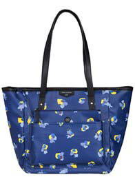 Queen Bee Everyday Tote Plus Nappy Bag in Navy Floral by TWELVE little
