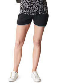 Queen Bee Side Stripe Maternity Sport Shorts by Supermom