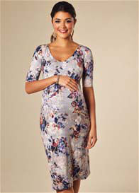 Queen Bee Tilly Maternity Shift Dress in Vintage Bloom by Tiffany Rose