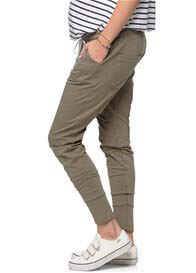 Queen Bee Remember When Maternity Jogger in Light Khaki by Bae