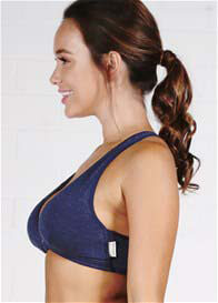 Queen Bee Elora Maternity Nursing Sleep Bra in Navy by Queen Bee