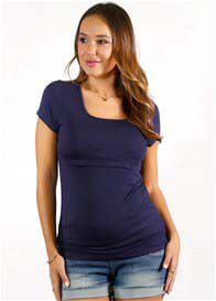 Queen Bee Becky Postpartum Nursing T-Shirt in Navy by Trimester