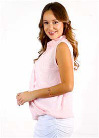 Queen Bee Frankie Pink Signature Maternity Nursing Layer Top by Floressa
