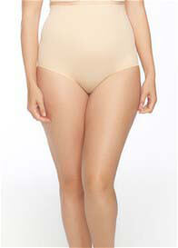 Queen Bee Leah High Waist Bonded Control Brief in Nude by QT Intimates