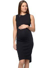 Queen Bee Shadow Sounds Maternity Dress in Black by Bae The Label