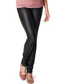 Queen Bee Jessie Coated Skinny Black Maternity Jeans by Noppies