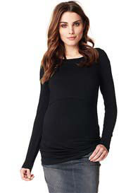 Queen Bee Hannah Maternity Nursing Top in Black by Noppies
