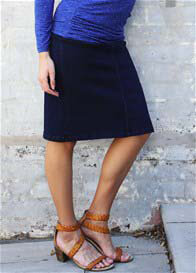 QueenBee® - Denim Skirt in Dark Navy