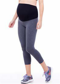 Queen Bee Active Maternity Capri w Crossover Panel by Ingrid & Isabel