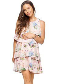 Queen Bee Let it Happen Maternity Nursing Dress in Blush Floral by Bae