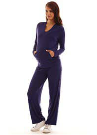 Queen Bee Irene 2-Piece Navy Maternity Nursing Lounge Set by Everly Grey